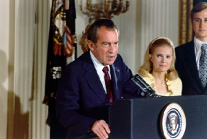 Richard Nixon resigns, 1974